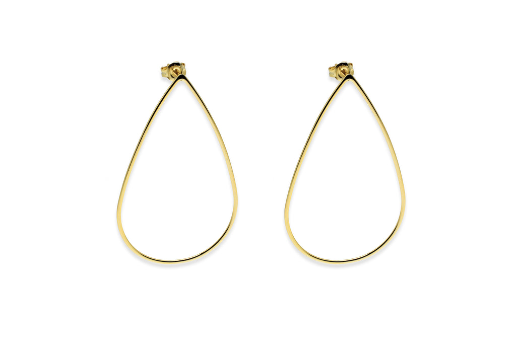 Carroll Gold Teardrop Earrings