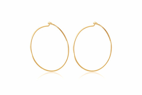 Clarke Gold Sterling Silver Hoop Earrings