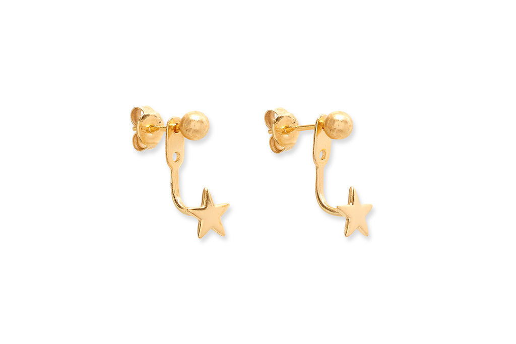 Davalos Gold Star Stud Earrings