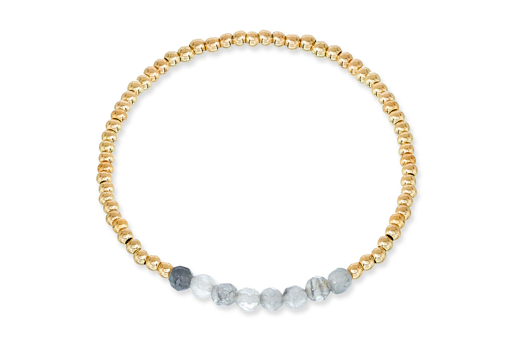 Deltora Gold Beaded Stretch Bracelet