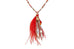 Dendera Red Beaded Tassel Necklace