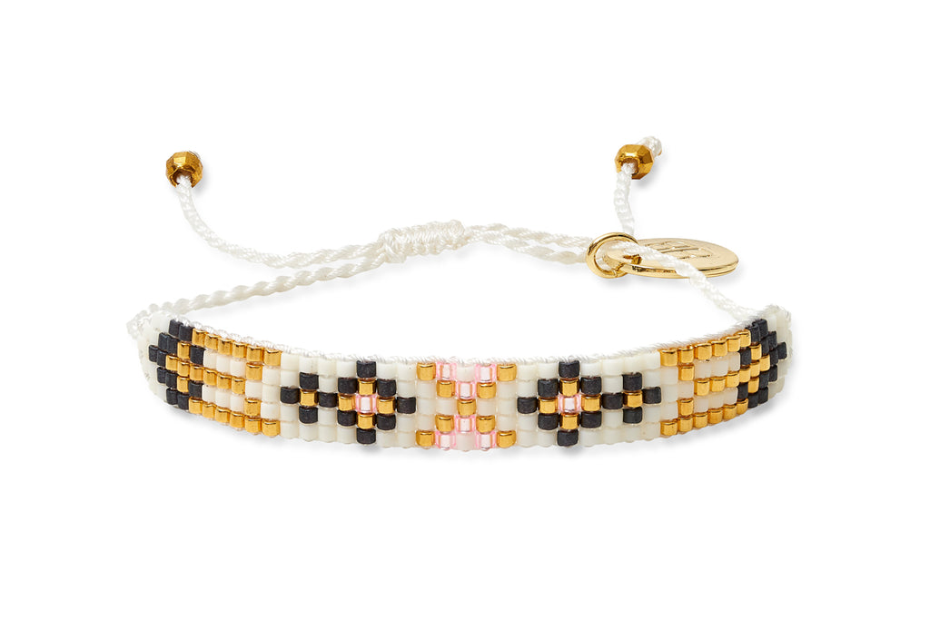 Diamond 5 Row Beaded Friendship Bracelet - Boho Betty