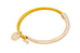 Daubs Mustard Leather Gold Bangle Gift Set
