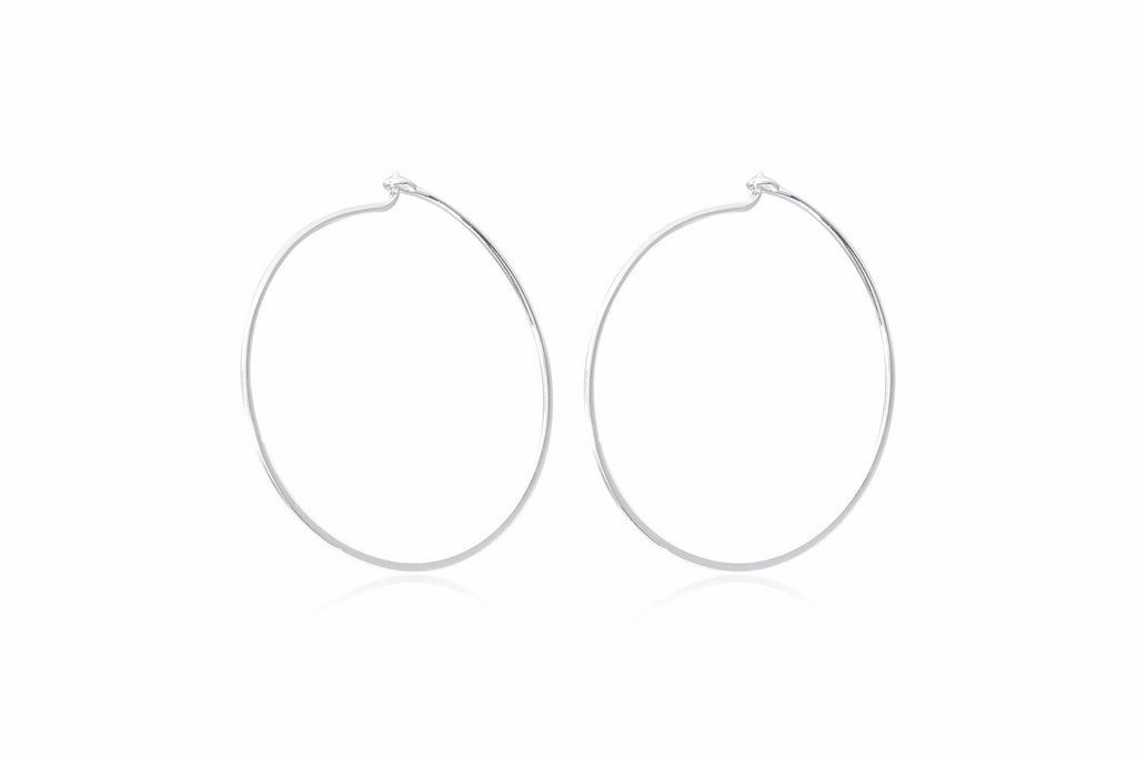 Davis Silver Hoop Earrings - Boho Betty