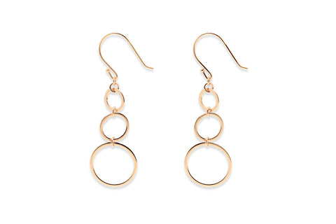 Duprez Rose Gold 3 Circle Earrings