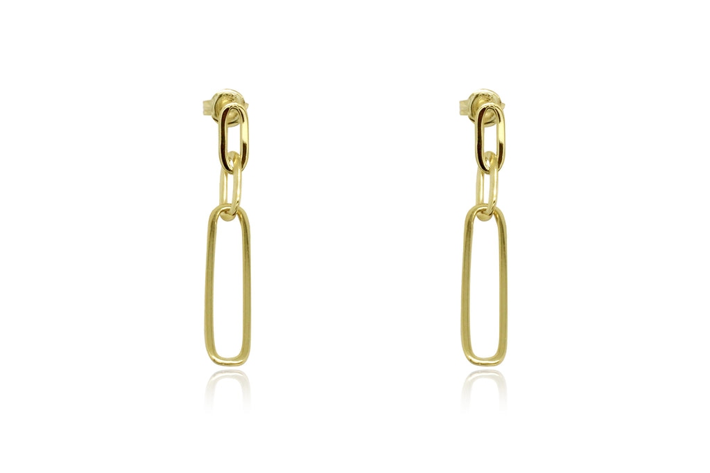 Alto Gold Chain Drop Earrings - Boho Betty