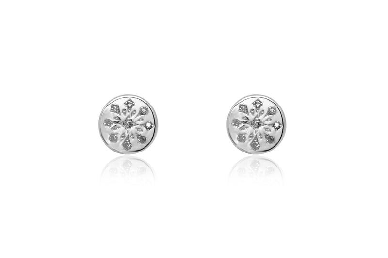 Arnes Silver Stud Earrings - Boho Betty