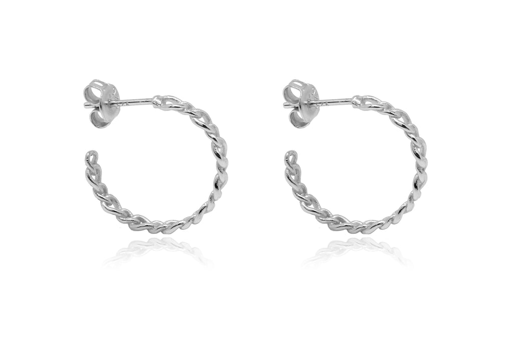 Mathis Silver Hoop Earrings - Boho Betty