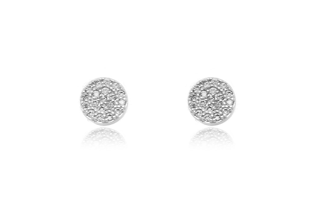 Ranaut Clear CZ Silver Stud Earrings - Boho Betty