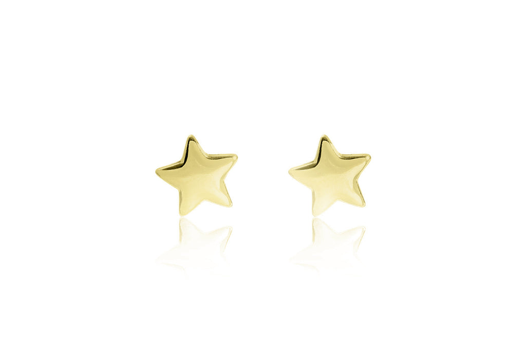 Star Stud Gold Earrings - Boho Betty