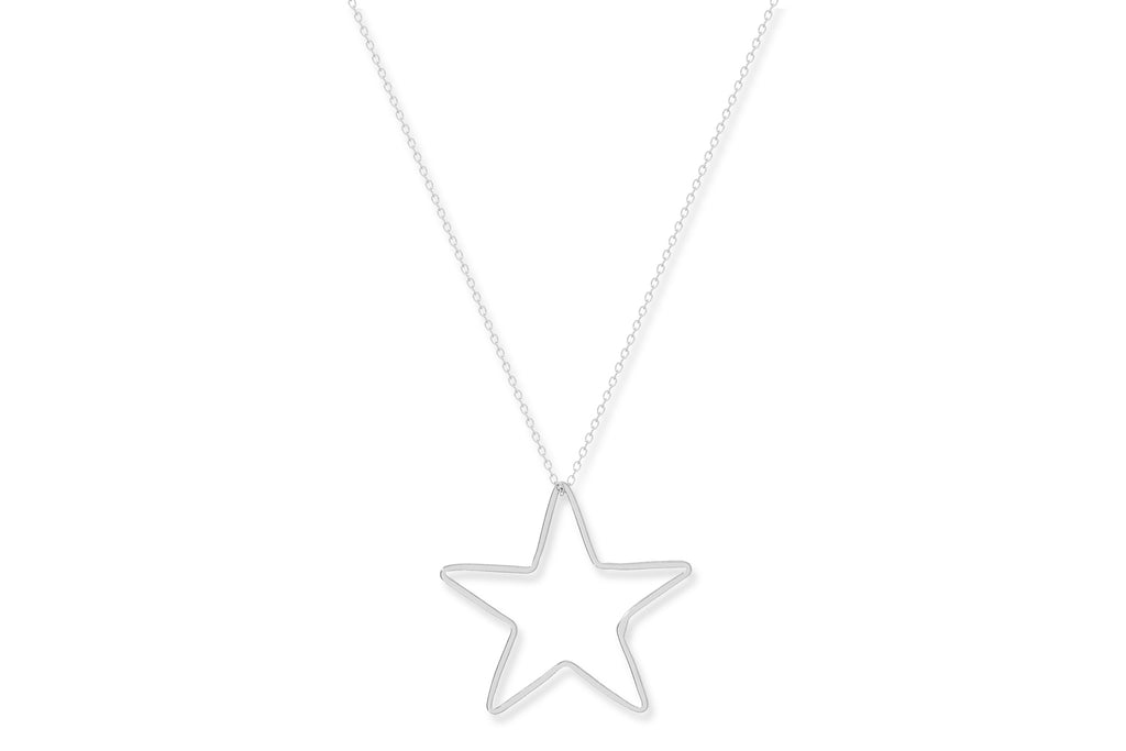 Fino Sterling Silver Star Necklace