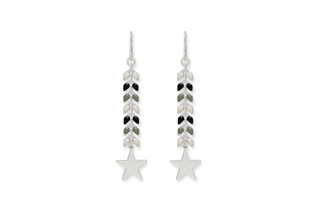 Faun Grey Star Earrings