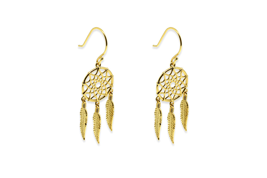 Fontaine Gold Dreamcatcher Earrings