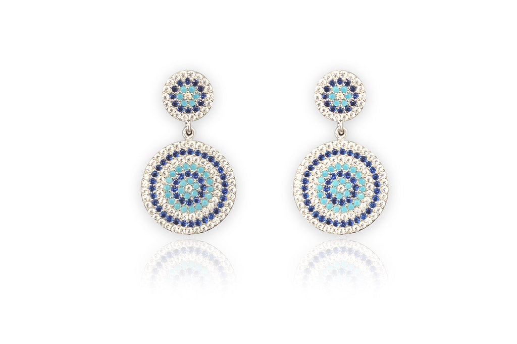 Forlani CZ Silver Beaded Earrings
