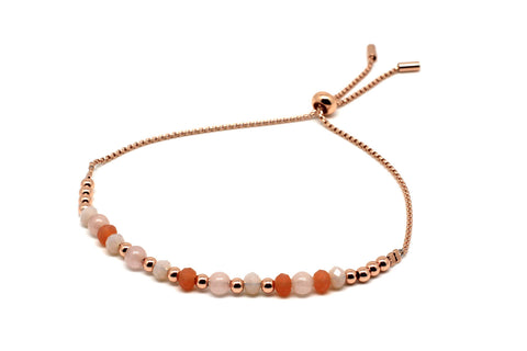 Foxtrot Rose Gold Crystal Friendship Bracelet