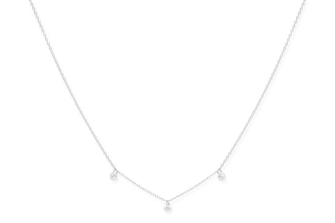 Gattinara Sterling Silver Crystal Necklace