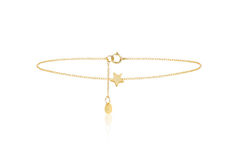 Star Gold on Sterling Silver Necklace with Star Pendant