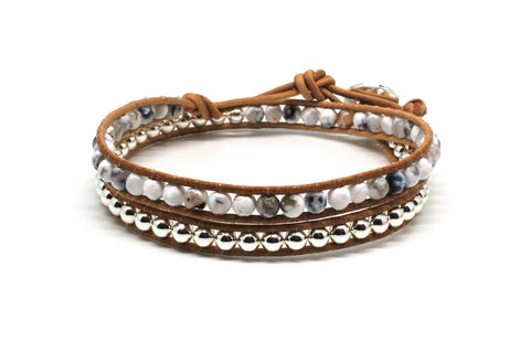 Galop 2 Wrap White Bracelet
