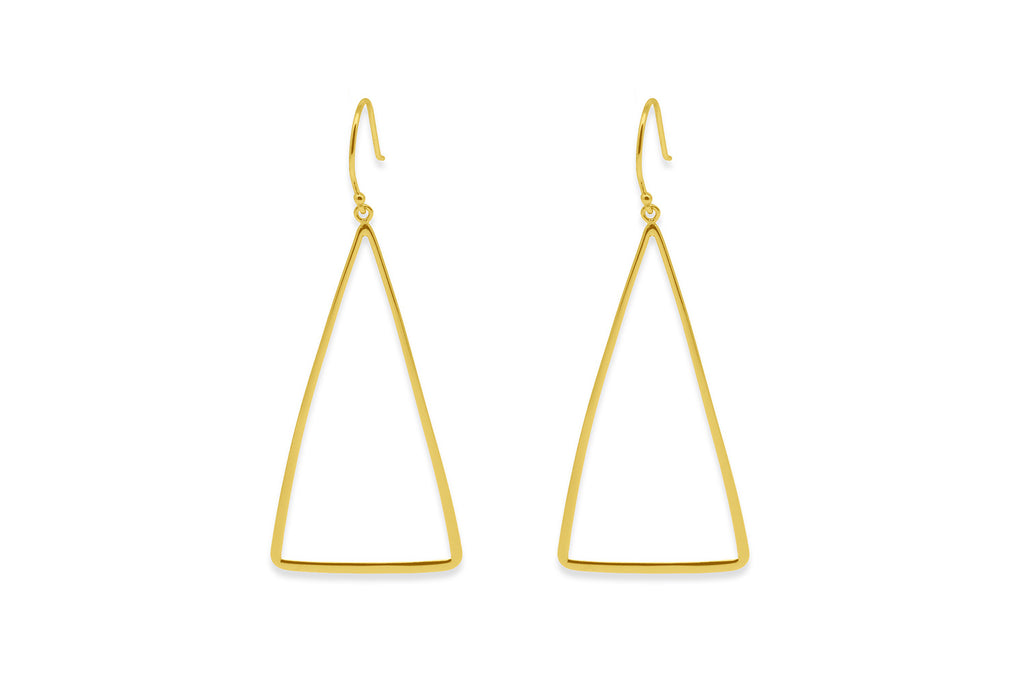 Gingold  Gold Triangle Earrings
