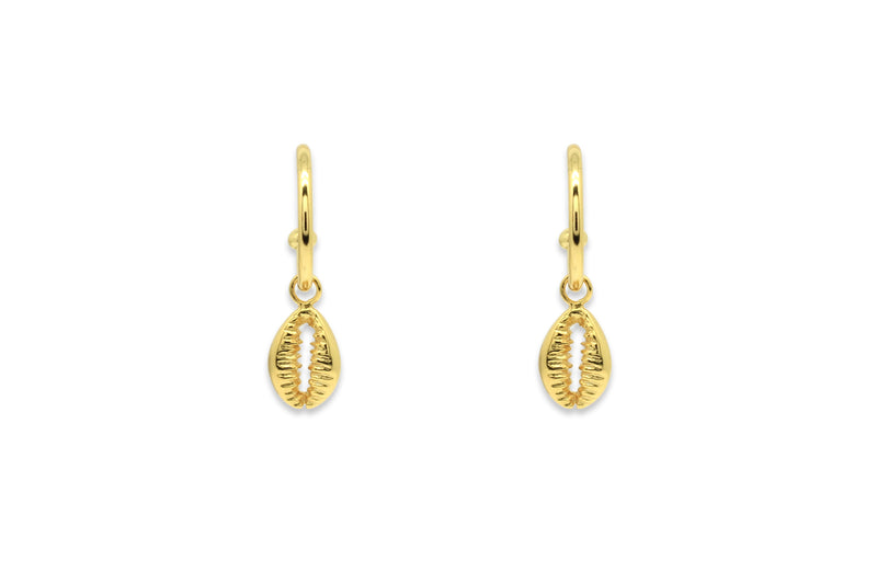 Tatyana Gold Shell Half Hoop Earrings - Boho Betty