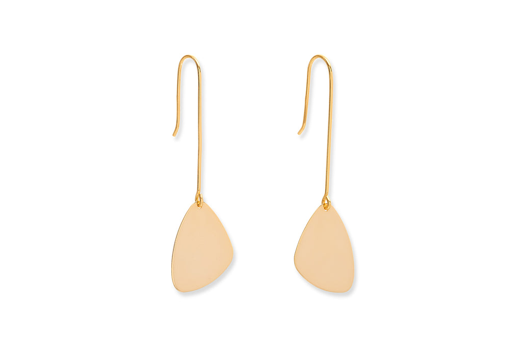 Hall Gold Paddle Drop Earrings