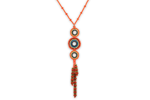 Hecate Seed Bead Orange Necklace
