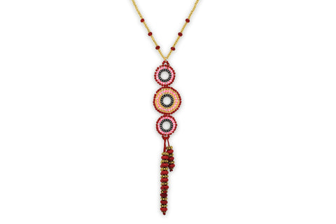 Hecate Beaded Pink Necklace