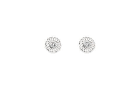 Hillier Silver Earrings Circle Studs