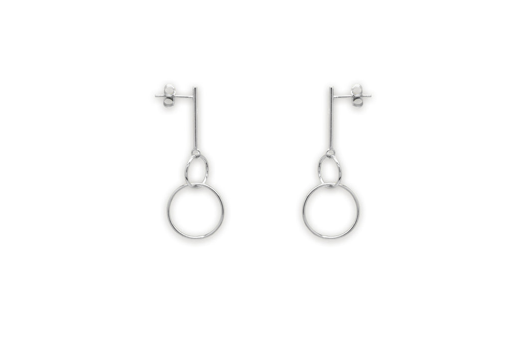 Hobson Silver 2 Circle Earrings
