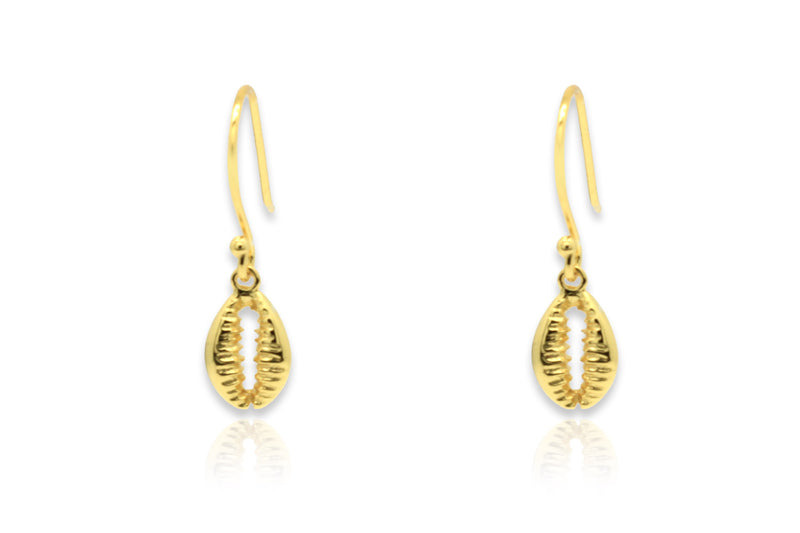 Holt Gold Shell Drop Earrings - Boho Betty