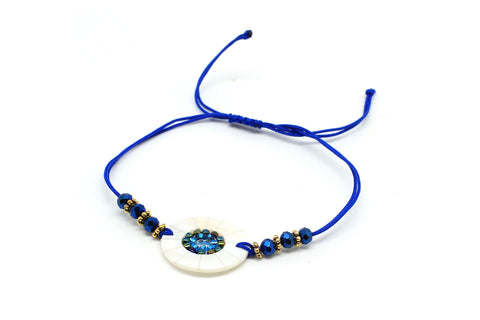Hornpipe Blue Disc Friendship Bracelet