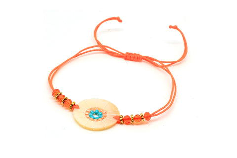 Hornpipe Orange Disc Bracelet