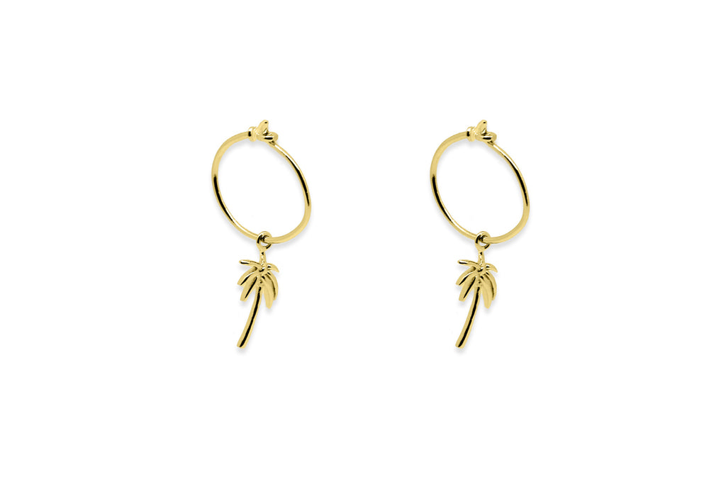 Hunter Gold Palm Tree Earrings