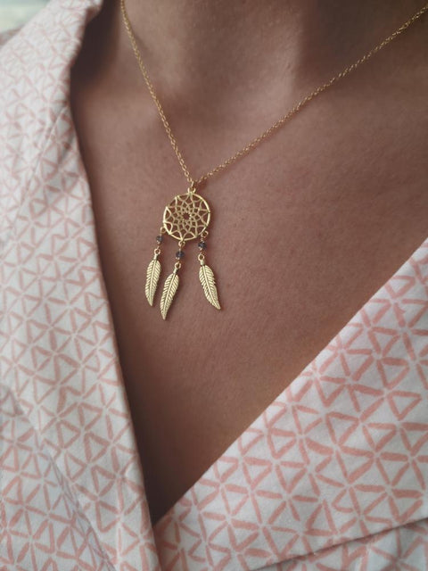 Sherry Gold Dreamcatcher Necklace