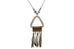 Indunn Grey Triangle Shell Pendant Necklace