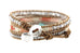 Bessie Leather 3 Wrap Bracelet