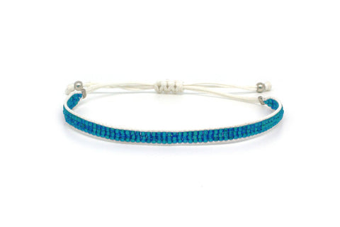 Jive Blue Beaded Friendship Bracelet
