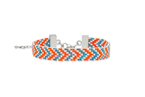 Kooks Orange Beaded Bracelet