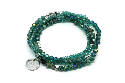 Kalanchoe Green 4 Wrap Stretchy Bracelet