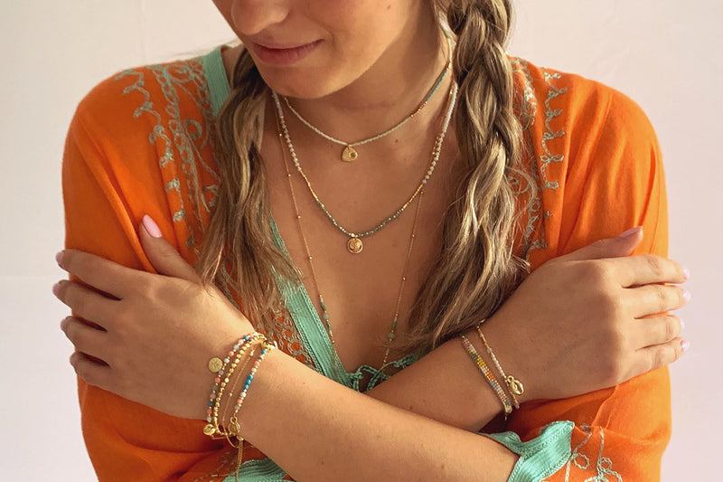 Belgrade Multicolour 2 Layered Bracelet Stack - Boho Betty