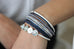 Gopher Navy Magnet Bracelet