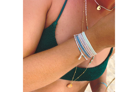 Parnis Mint 3 Layer Bracelet Stack