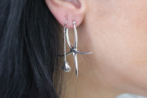 Laird Silver Starfish Earrings
