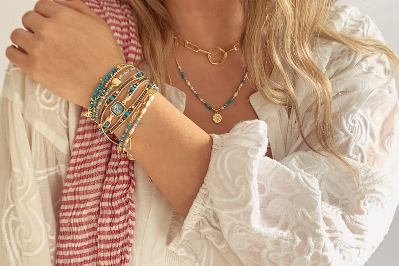 Lusaka 2 Layered Bracelet Stack - Boho Betty