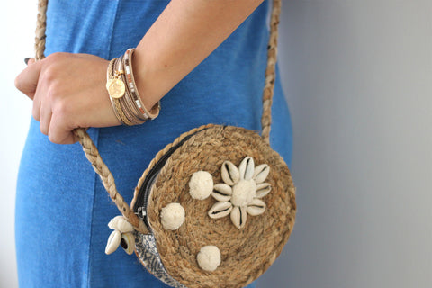Bihu Jute Natural Cross-body Bag