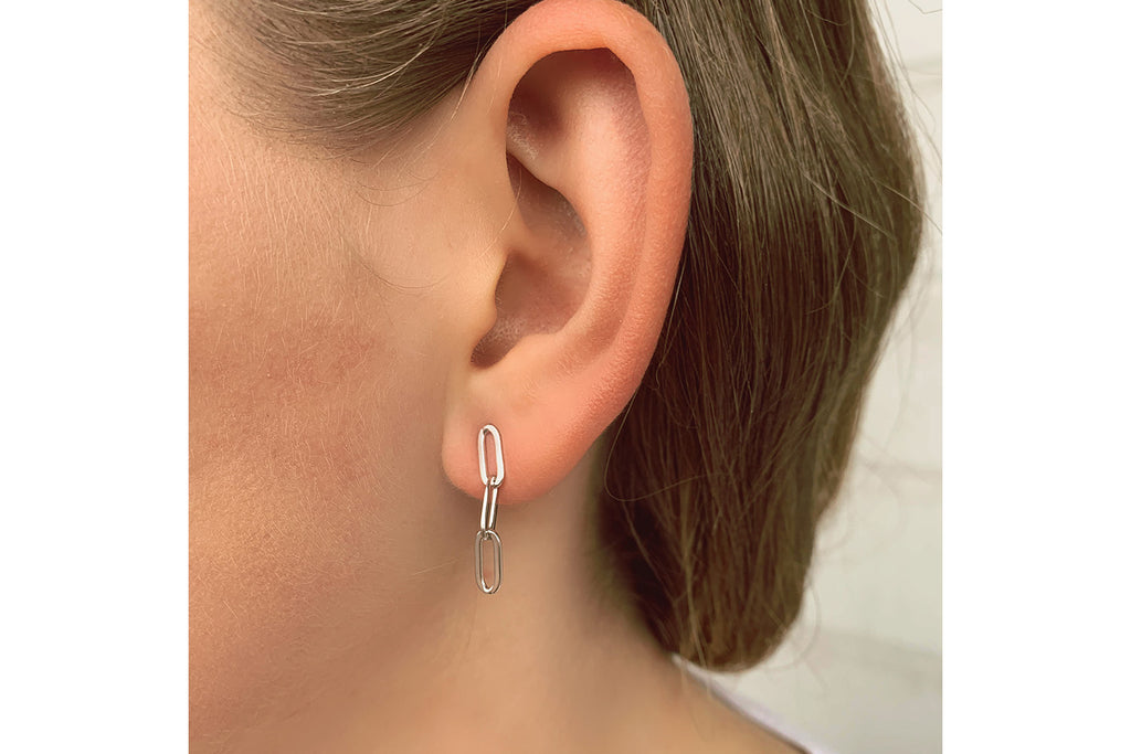 Boe Silver Chain Drop Earrings