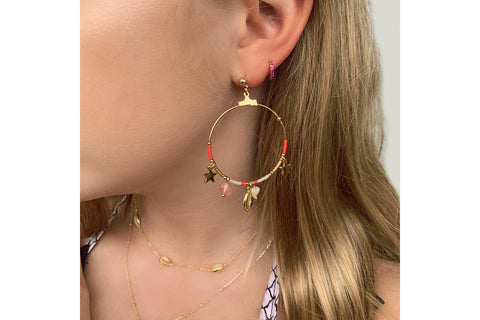 Reddy Rose Gold Hoop Earrings