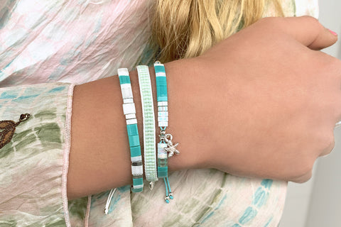 Jive Mint Green Beaded Friendship Bracelet