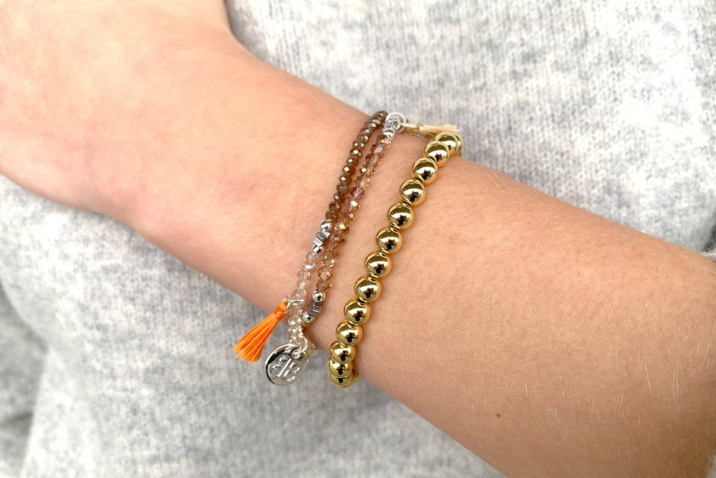 Limbo Gold Stretch Bracelet - Boho Betty