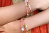 Casimiora Orange Tila Bead Shell Friendship Bracelet - Boho Betty